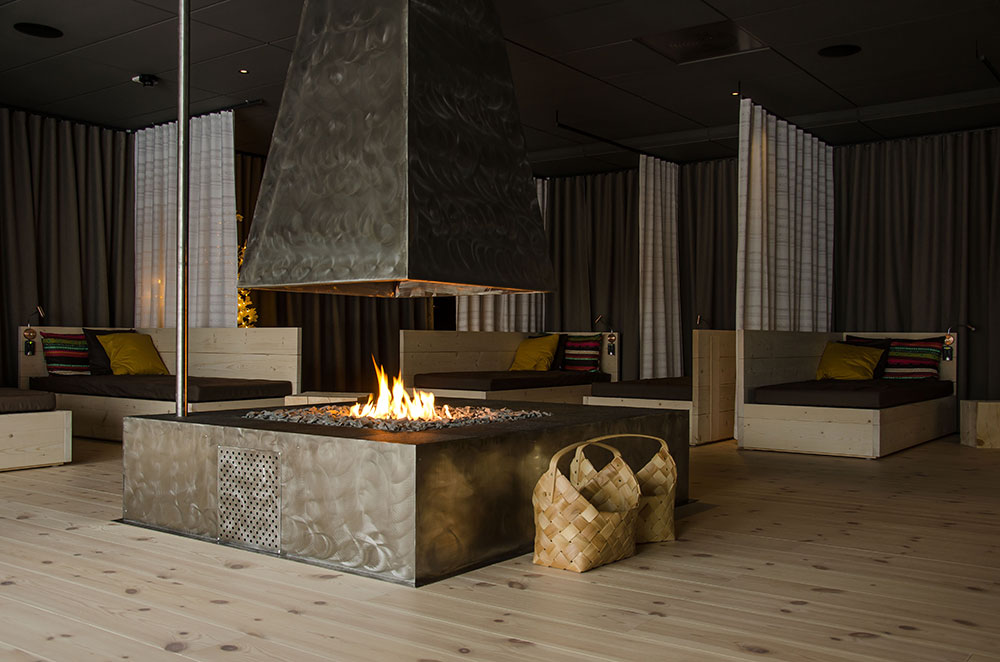 Gaskamin-in-Wellnesslounge